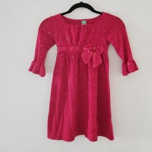 Girls dress red with sequins
